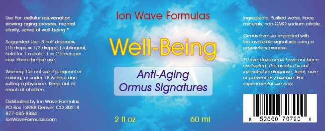 Well-Being Ormus Formula